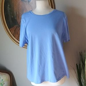 NWOT Talbots Woman Solid Blue T-Shirt. 2XL